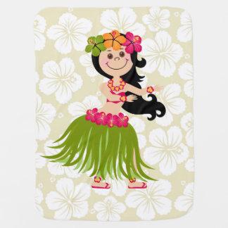 Hawaiian Girl Baby Blankets