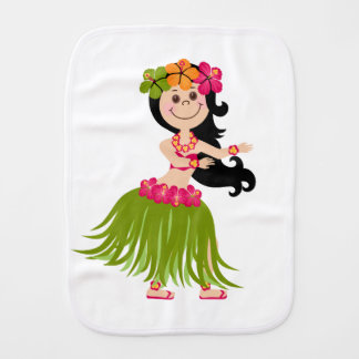 Hawaiian Girl Burp Cloths