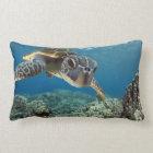 Hawaiian Green Sea Turtle Lumbar Pillow