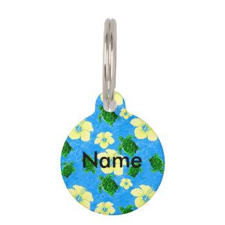 Hawaiian Green Sea Turtle Pet Name Tag