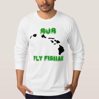 Hawaiian_Hawaiian_Islands_Small, 808, Fly Fishah T-Shirt
