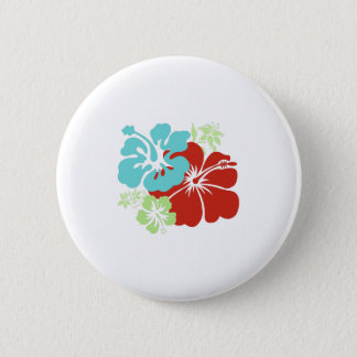 Hawaiian Hibiscus 2 Inch Round Button