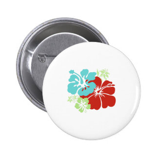 Hawaiian Hibiscus 2 Inch Round Button