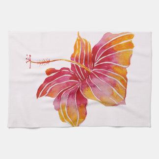 "Hawaiian Hibiscus Flower Kitchen Towel 16"" x 24"""
