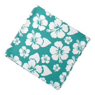 Hawaiian Hibiscus Flower Pattern Bandana