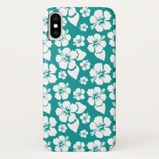 Hawaiian Hibiscus Flower Pattern iPhone X Case
