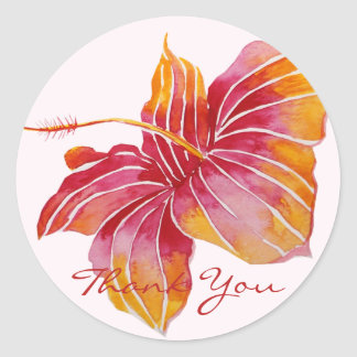 Hawaiian Hibiscus Flower | Thank You Sticker