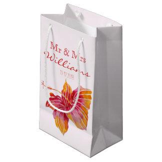 Hawaiian Hibiscus Flower | Wedding Small Gift Bag