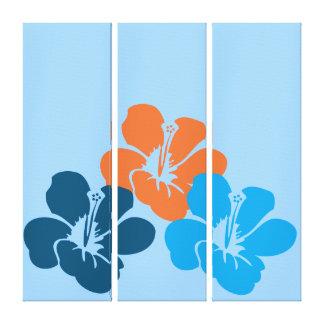 Hawaiian Hibiscus Flowers Canvas Print