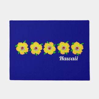 Hawaiian Hibiscus Flowers Hawaii Doormat