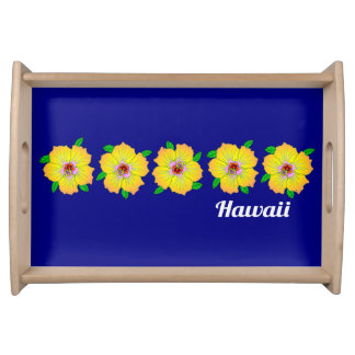 Hawaiian Hibiscus Flowers Hawaii Serving Tray
