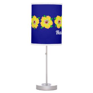 Hawaiian Hibiscus Flowers Hawaii Table Lamp
