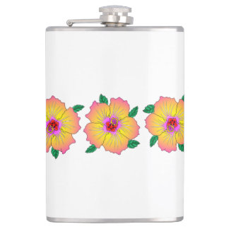 Hawaiian Hibiscus Flowers Hip Flask