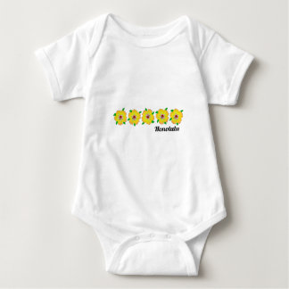 Hawaiian Hibiscus Flowers Honolulu Hawaii Baby Bodysuit