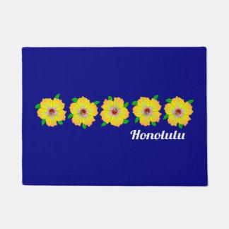 Hawaiian Hibiscus Flowers Honolulu Hawaii Doormat