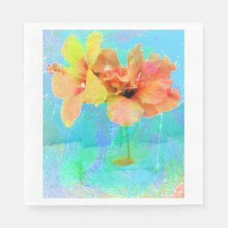 Hawaiian Hibiscus Flowers Paper Napkin