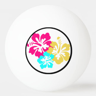 Hawaiian Hibiscus Flowers Ping Pong Ball