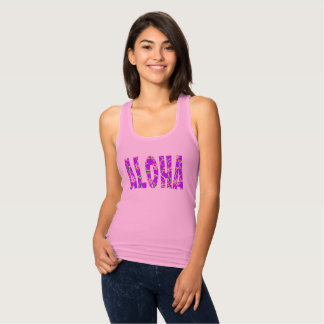 Hawaiian Hibiscus Luau Tropical Flowers Tank Top