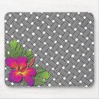 Hawaiian Hibiscus Print Mouse Pad