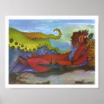"""""""Hawaiian Holiday"""" Watercolor Fish Art Poster"""