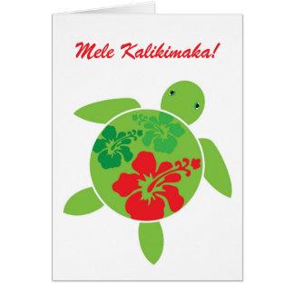 Hawaiian Honu Christmas Greeting Card