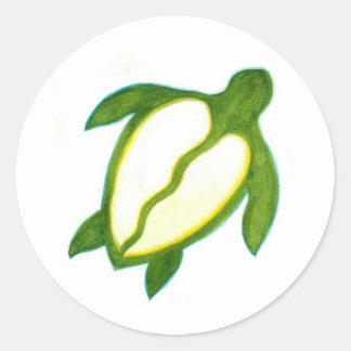 Hawaiian Honu Classic Round Sticker