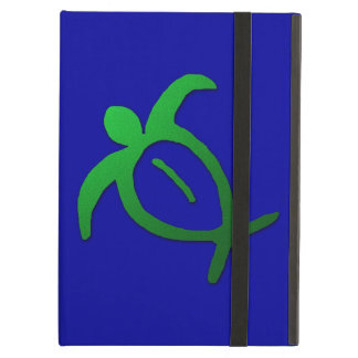 Hawaiian Honu Petroglyph on Blue Cover For iPad Air