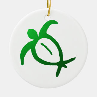 Hawaiian Honu Petroglyph - Ornament