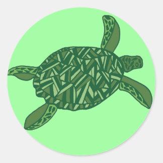 Hawaiian honu (sea turtle) classic round sticker