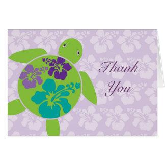 Hawaiian Honu Thank You Card