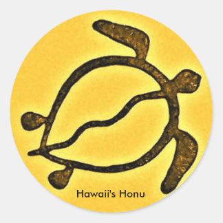 Hawaiian honu turtle classic round sticker