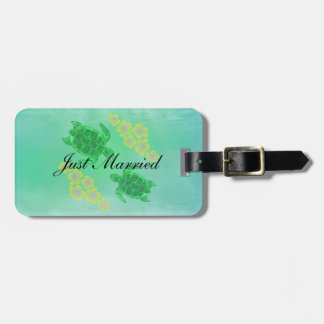 Hawaiian Honu Wedding Luggage Tag