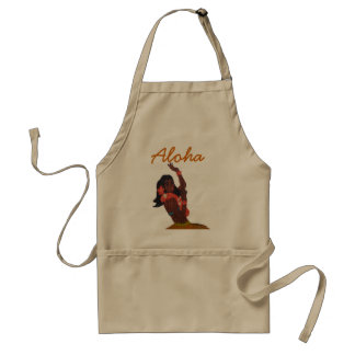 Hawaiian Hula Girl Dancer Standard Apron