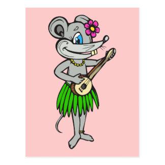 Hawaiian Hula Mouse Postcard