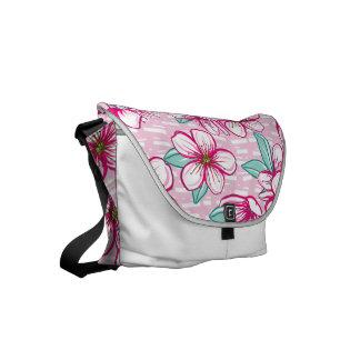 Hawaiian Inspired Cherry Blossom Flowers Courier Bag