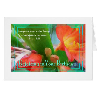 Hawaiian Iris - Women's Religious Birthday Card
