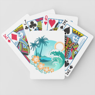 Hawaiian Island 1 Bicycle Playing Cards
