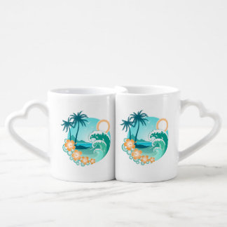 Hawaiian Island 1 Coffee Mug Set