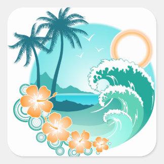 Hawaiian Island 1 Square Sticker