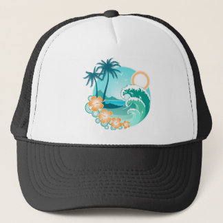 Hawaiian Island 1 Trucker Hat
