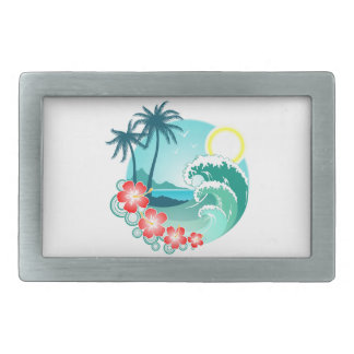 Hawaiian Island 2 Belt Buckles