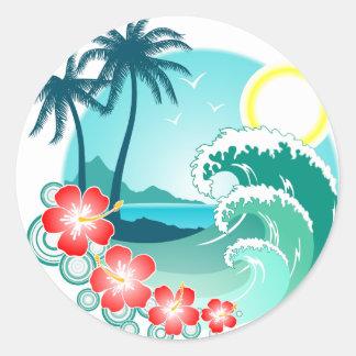Hawaiian Island 2 Classic Round Sticker