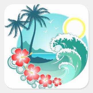 Hawaiian Island 2 Square Sticker