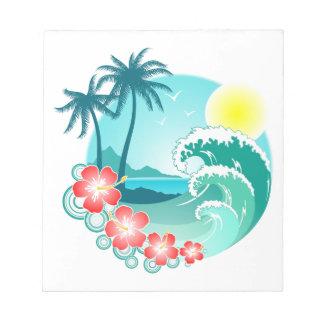 Hawaiian Island 3 Notepad