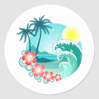 Hawaiian Island 3 Round Sticker