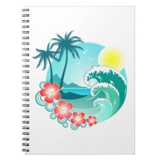 Hawaiian Island 3 Spiral Notebook