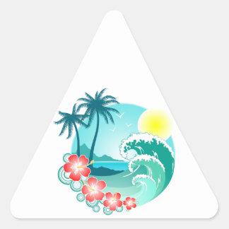 Hawaiian Island 3 Triangle Sticker