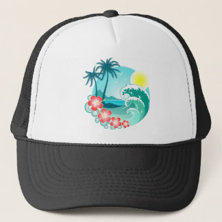 Hawaiian Island 3 Trucker Hat