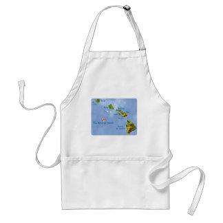 Hawaiian Island Map apron Standard Apron