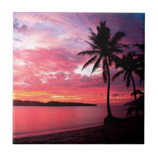 Hawaiian Island Sunset Tile